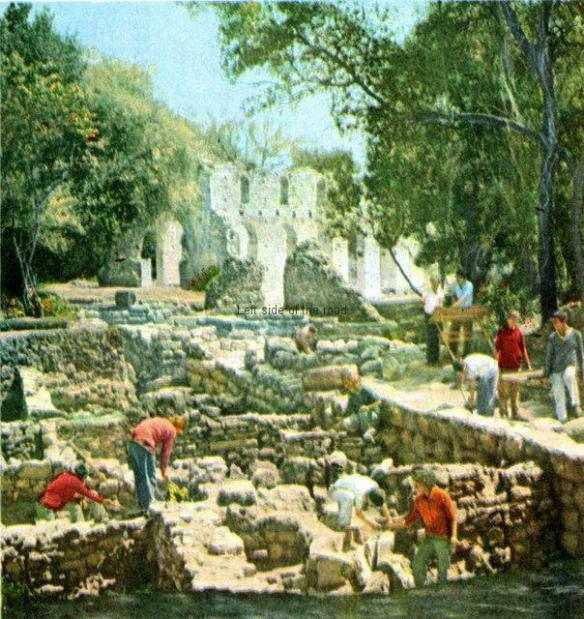 Archaeologists working in Butrint during Socialism