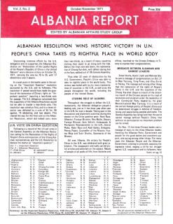Albania Report Vol 2, No 2, 1971