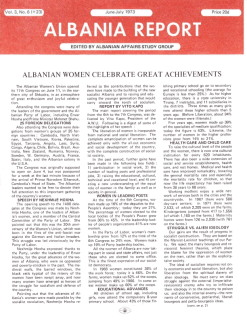Albania Report Vol 3, No 6, 1973