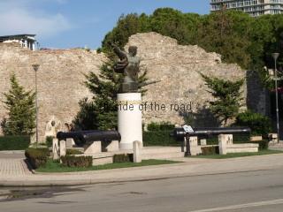 Mujo Ulqinaku alongside Venetian Tower