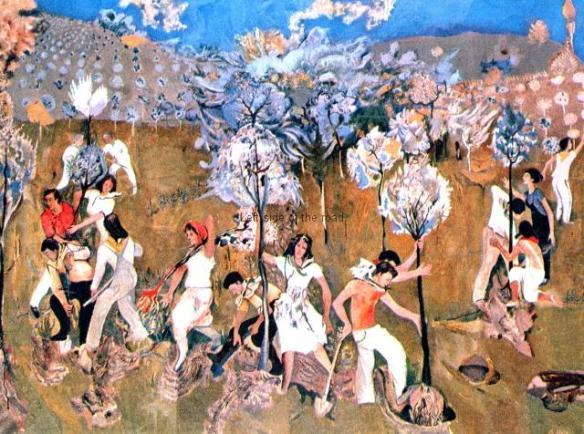 Planting Trees - Edi Hila - 1971