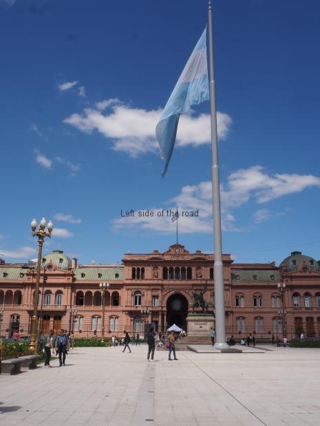 Casa Rosada with Argentine flag