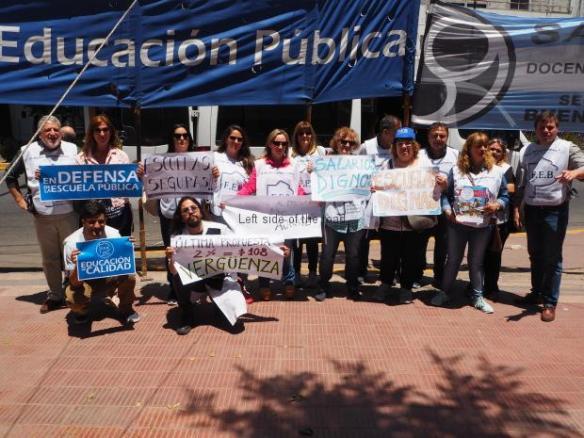 SUTEBA meeting, La Plata