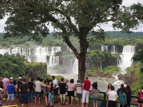 First view of Iguazu Falls - Brazil