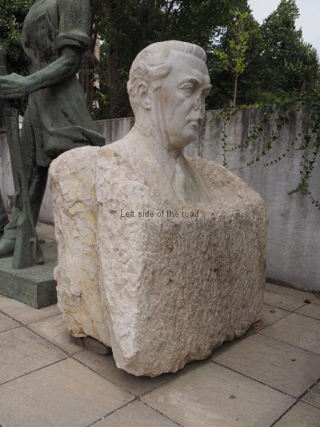 A vandalised Enver Hoxha