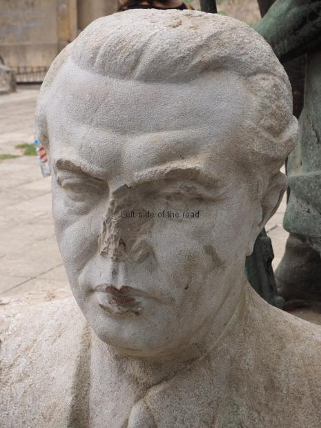 Enver Hoxha - the nose always get attacked
