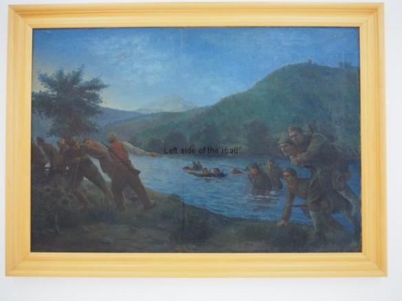 Sadik Kaceli - The crossing of the striking division of Brigade No 1 - 1954