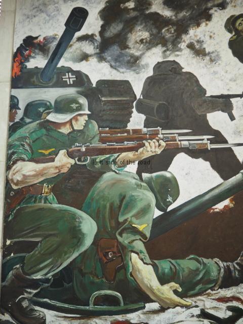 Dead Nazis and dead Fascist Panzer Tank