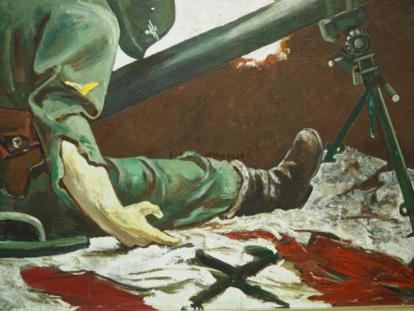 The Nazi banner and the Nazi dead