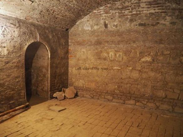 The underground room - looking towards present day entrance