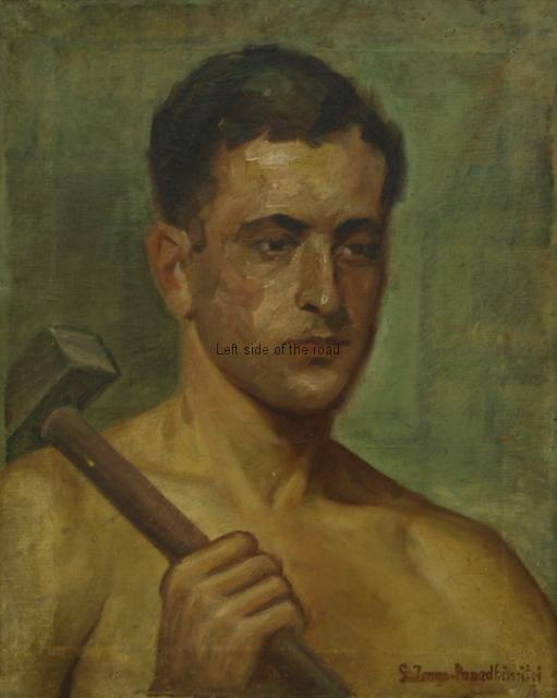 Worker with hammer - 1938 - Sofia Papdhimitri