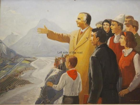 Enver Hoxha with the people of Tepelene