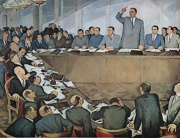 Enver at 81 Communist Parties Meeting 1961