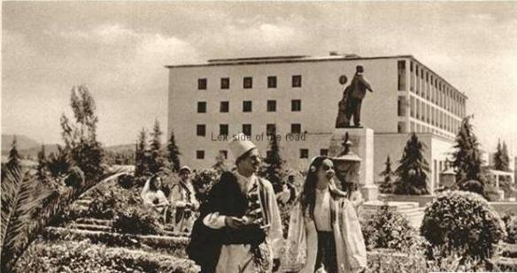 Hotel Dajit with Lenin statue