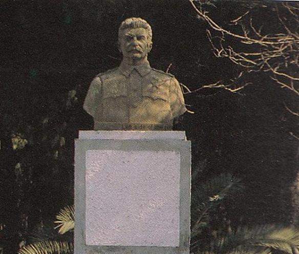Stalin bust - possibly Tirana 1990