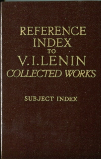 Lenin Collected Works - Subject Index