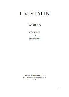 JV Stalin - Collected Works - Volume 15