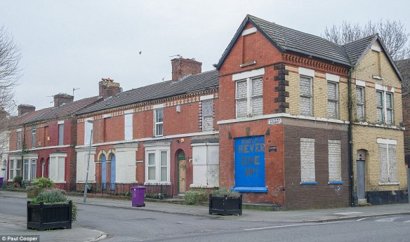 Boarded up houses in Kensington, Liverpool