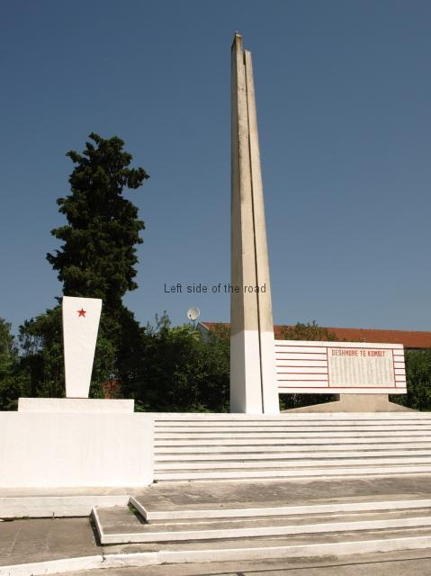 Elbasan Martyrs Cemetery - Lapidar and Eternal Flame