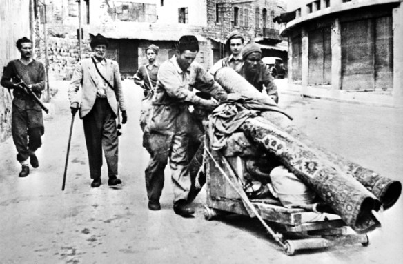 12 May 1948 Members of Haganah expel Palestinians from Haifa Nakba