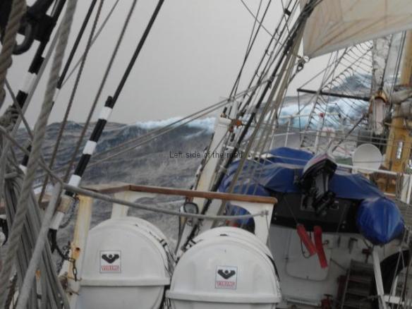 Tall ship facing an Atlantic storm