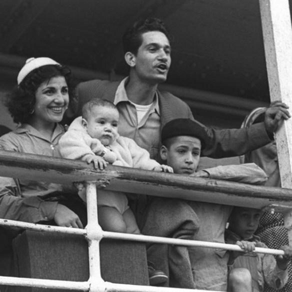 Moroccan immigrants arriving in Haifa, 1954