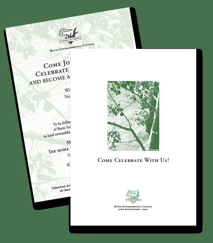 Butte Environmental Council invitation