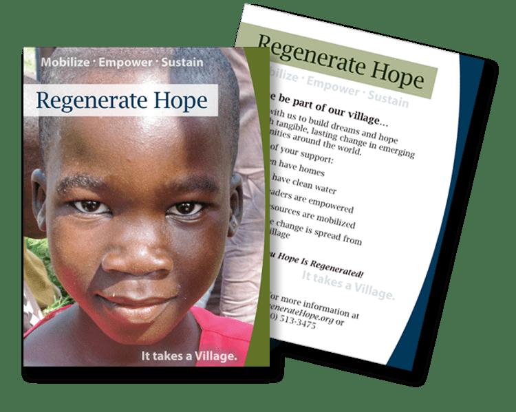 Regenerate Hope postcard