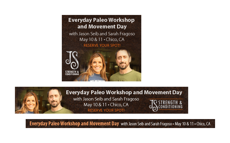 Everyday Paleo web banners