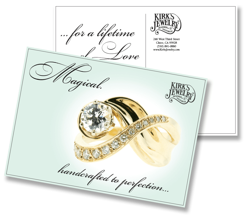 Kirk's Jewelry postcard
