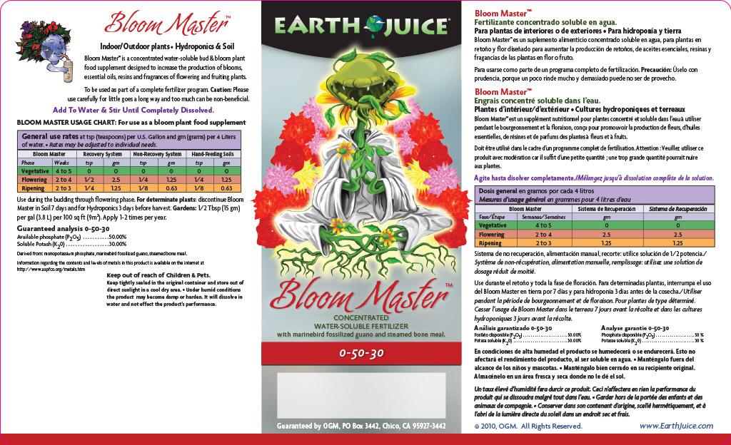 Bloom Master label