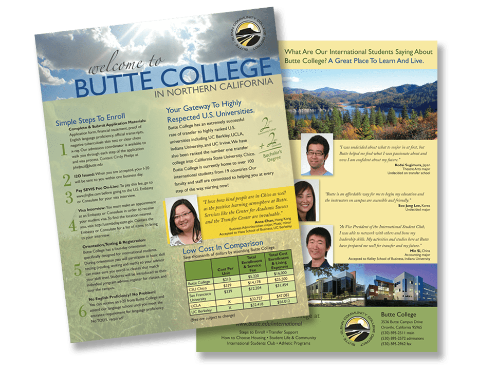 Butte College brochure