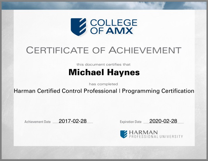 harman-programming-certification