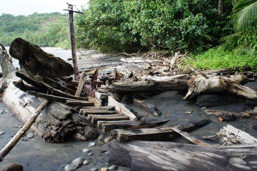 Old Shipwreck at Playa Piñuela