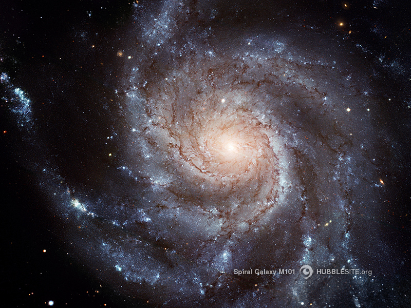 Spiral Galaxy M101, image from the Hubble Space Telescope