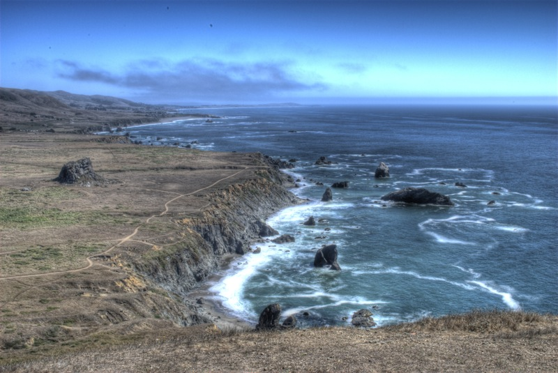 Looking south down the Sonoma Coast