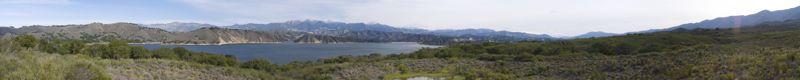 Lake Cachuma in Santa Barbara county, California.