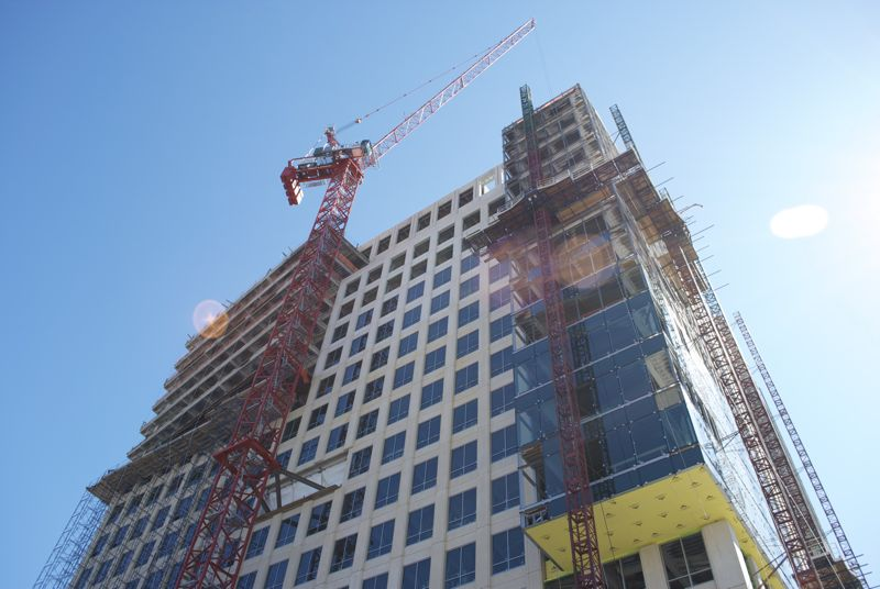 A new building going up in Boston, I hope they have lined up tenants.