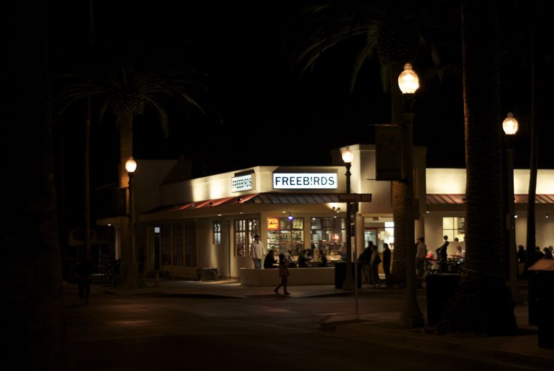 Freeb!rds, the standard destination of Isla Vista.
