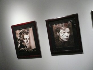 Greg Gorman portrait with Bowie
