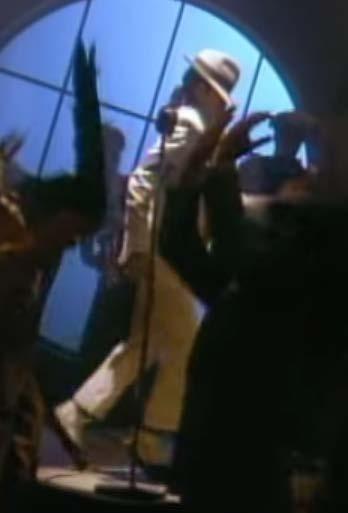 """Figure-16 """"Smooth Criminal"""" screen shot moonwalking without direction"""