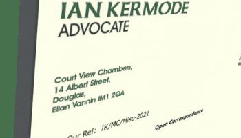 A picture of Ian Kermode's letterhead