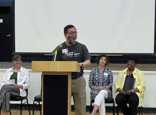 Michael Cheuk speaks about racial justice.