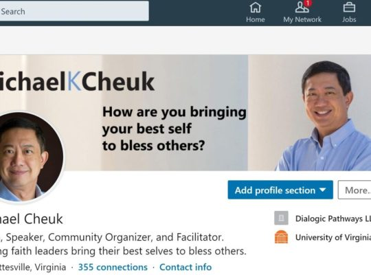 Michael Cheuk LinkedIn profile screenshot