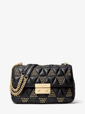 Sloan Large Studded Leather Shoulder Bag Michael Kors