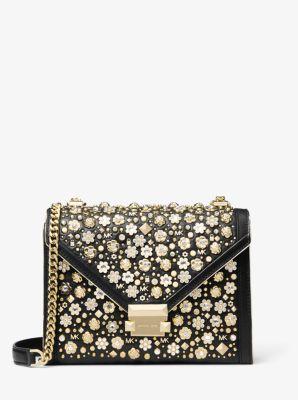 Whitney Large Embellished Leather Convertible Shoulder Bag Michael Kors