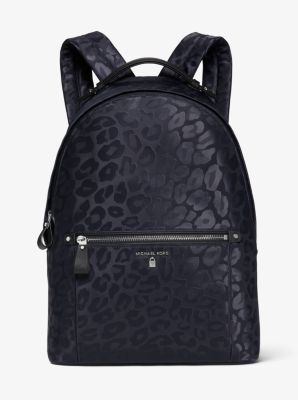 Kelsey Large Leopard Nylon Backpack Michael Kors