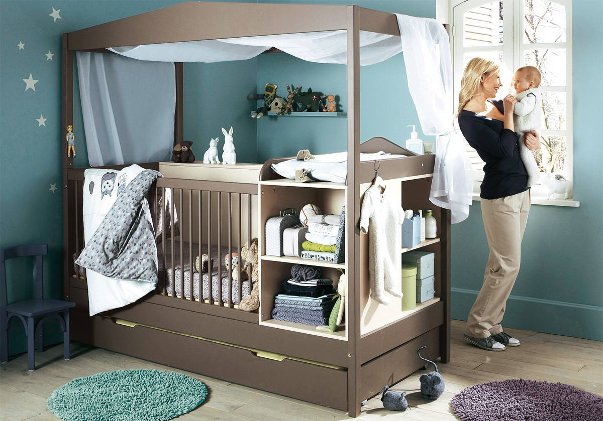Bedtime toddler and infant share room