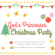 Made this graphic for our VG Christmas Party last 2016.