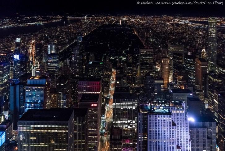 Midtown Manhattan and Central Park